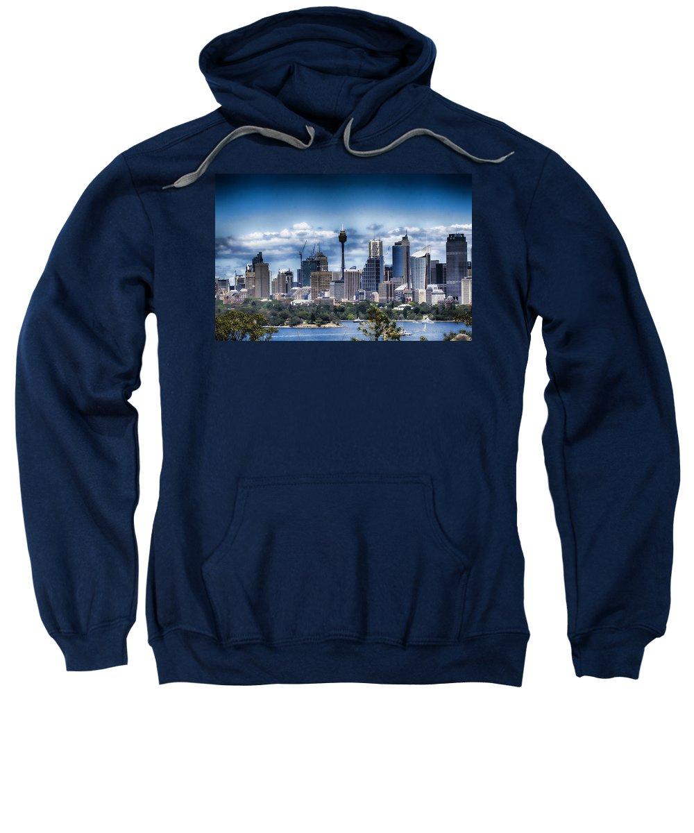 Sydney Sweatshirt featuring the photograph Sydney Australia Skyline by Douglas Barnard