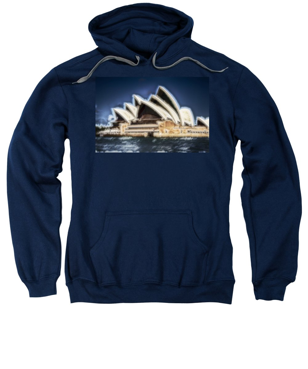 Sydney Opera House Sweatshirt featuring the photograph Sydney Opera House V11 by Douglas Barnard