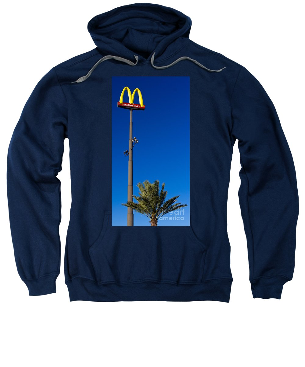 Corporation Sweatshirt featuring the photograph Tall Mac Sign by Les Palenik
