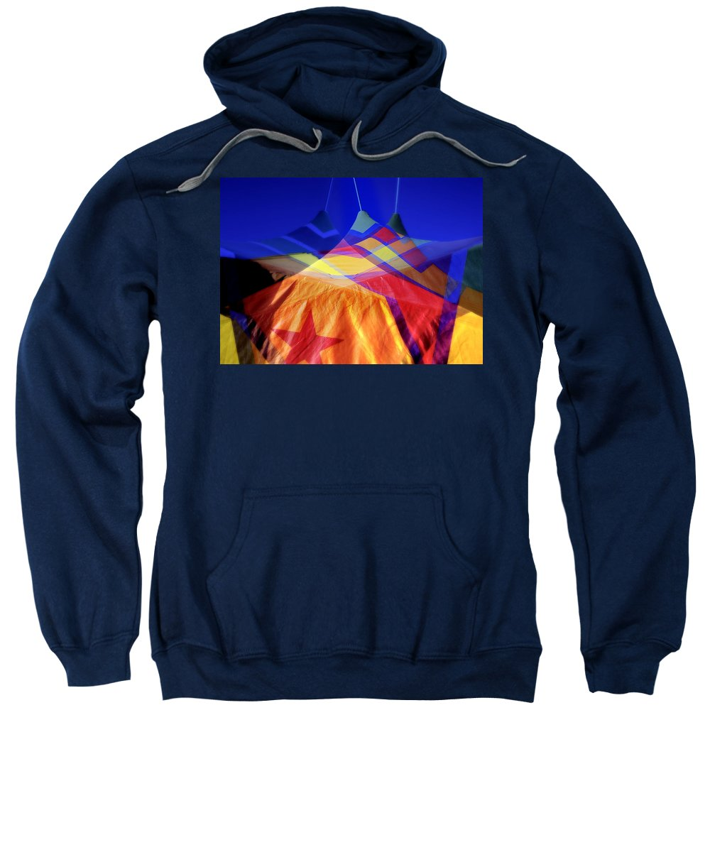 Tent Sweatshirt featuring the photograph Tent Of Dreams by Wayne Sherriff