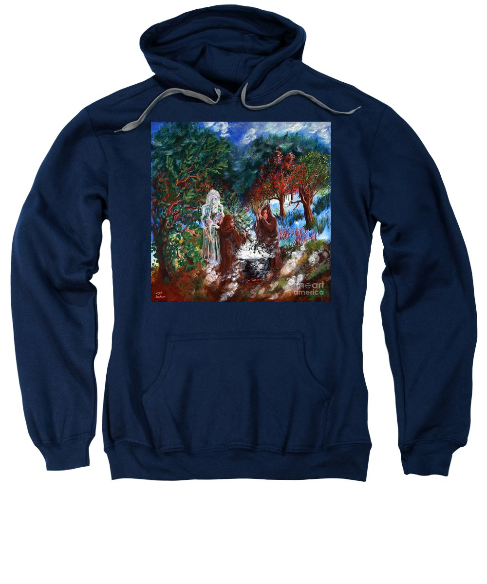Spiritual Sweatshirt featuring the painting The Alchemists by Joyce Jackson