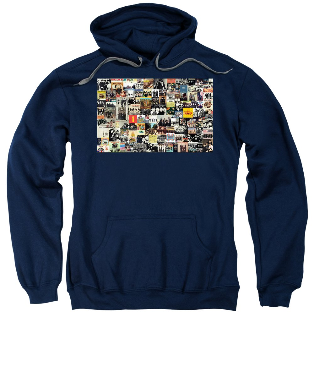 The Beatles Sweatshirt featuring the digital art The Beatles Collage by Zapista OU