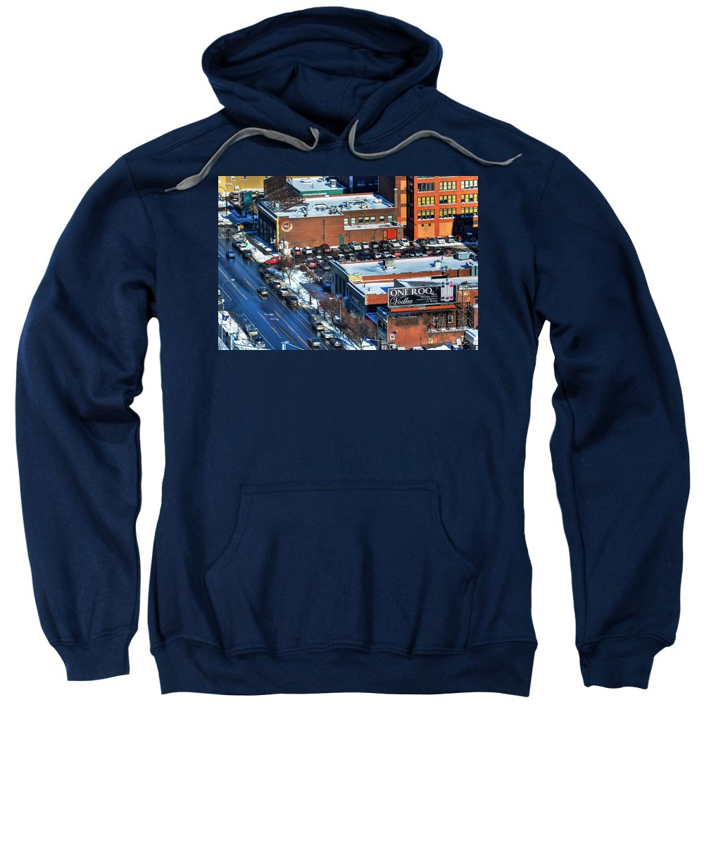Chippewa Street Sweatshirt featuring the photograph The Chippstrip II Winter 2013 by Michael Frank Jr