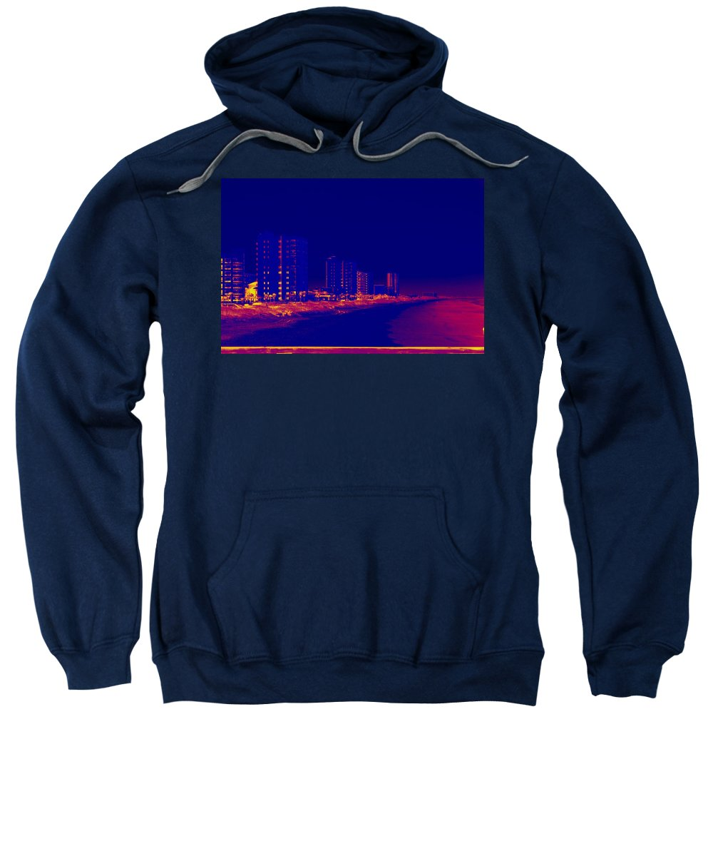 Beach Sweatshirt featuring the photograph The City At The Beach by Anthony Walker Sr