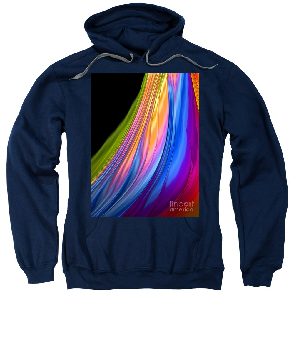 Watercolor Sweatshirt featuring the mixed media The Color Of Rain by Barbara Milton