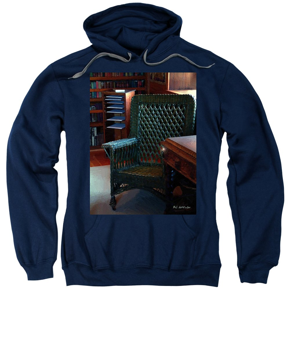 Antiques Sweatshirt featuring the painting The Consulting Room by RC DeWinter