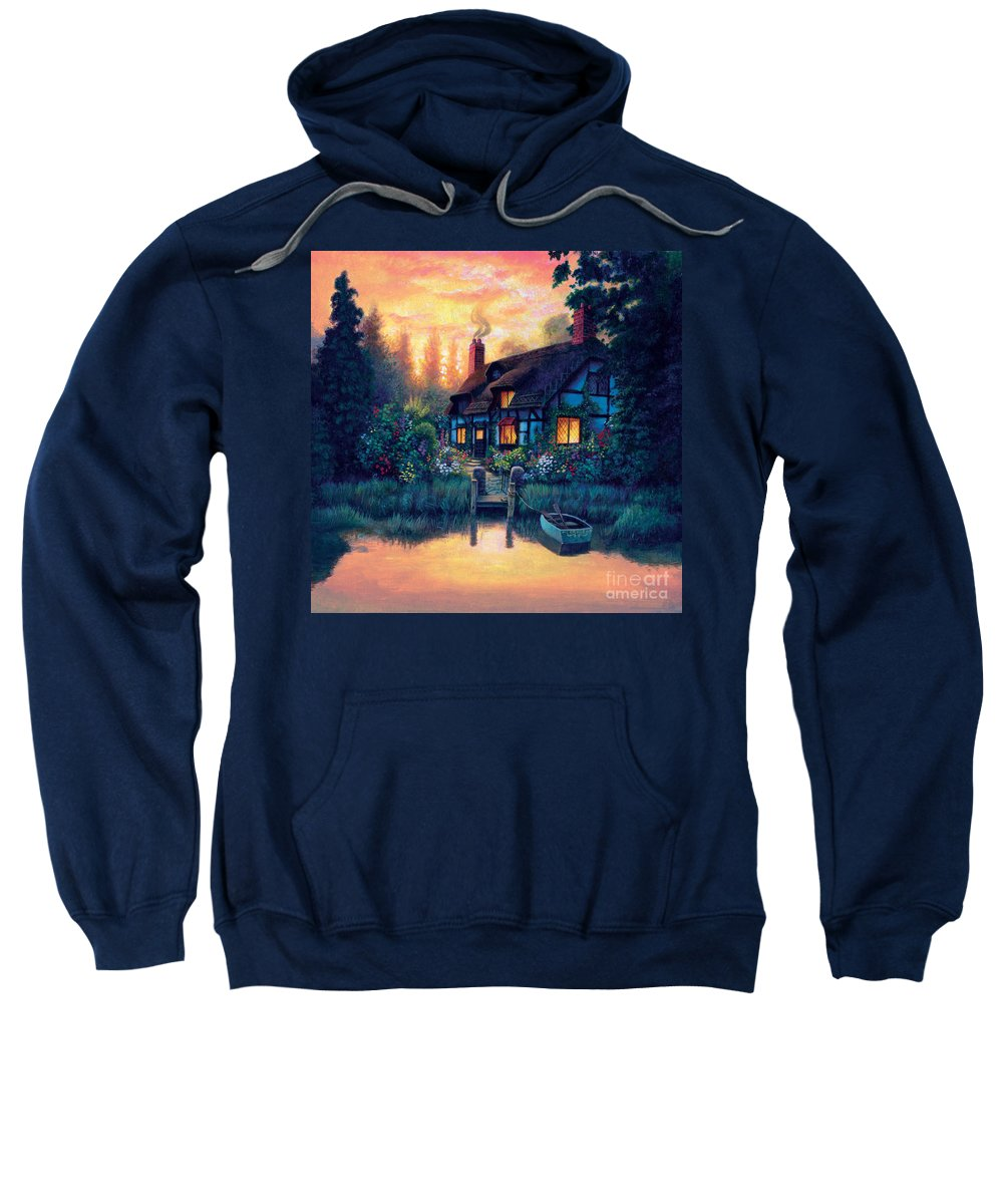 Cottage Sweatshirt featuring the photograph The Cottage by MGL Studio - Chris Hiett