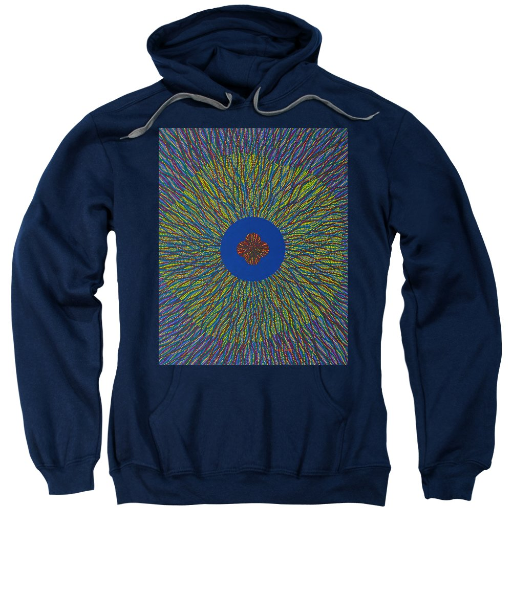 Flower Sweatshirt featuring the painting The Flower 3 by Kyung Hee Hogg