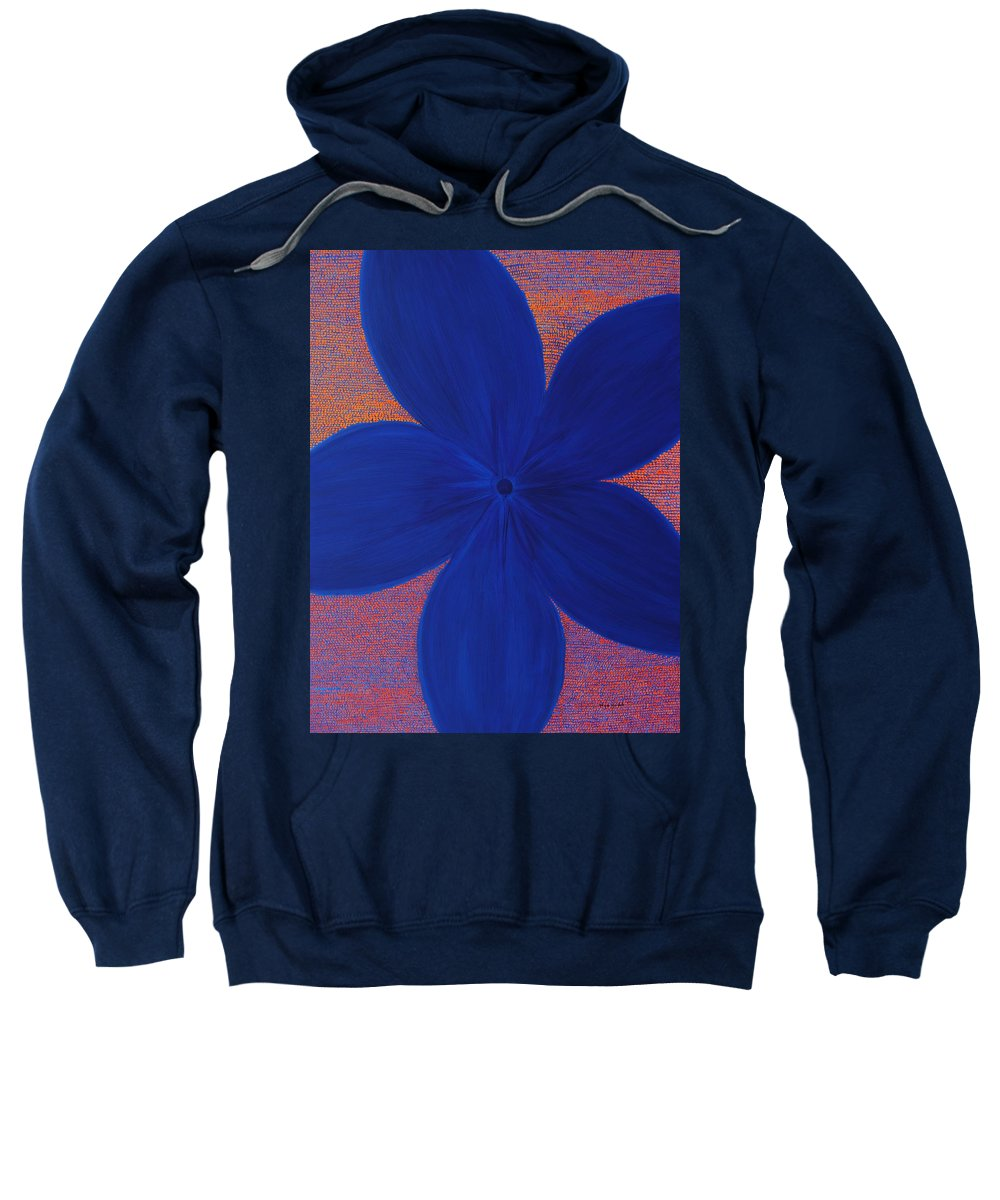 Flower Sweatshirt featuring the painting The Flower by Kyung Hee Hogg