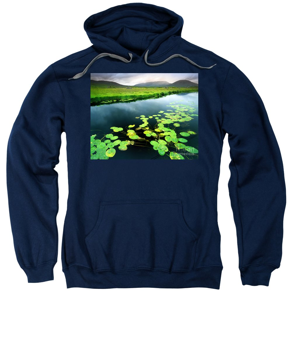 Ahalia Sweatshirt featuring the photograph The Green Of Our Land by Edmund Nagele