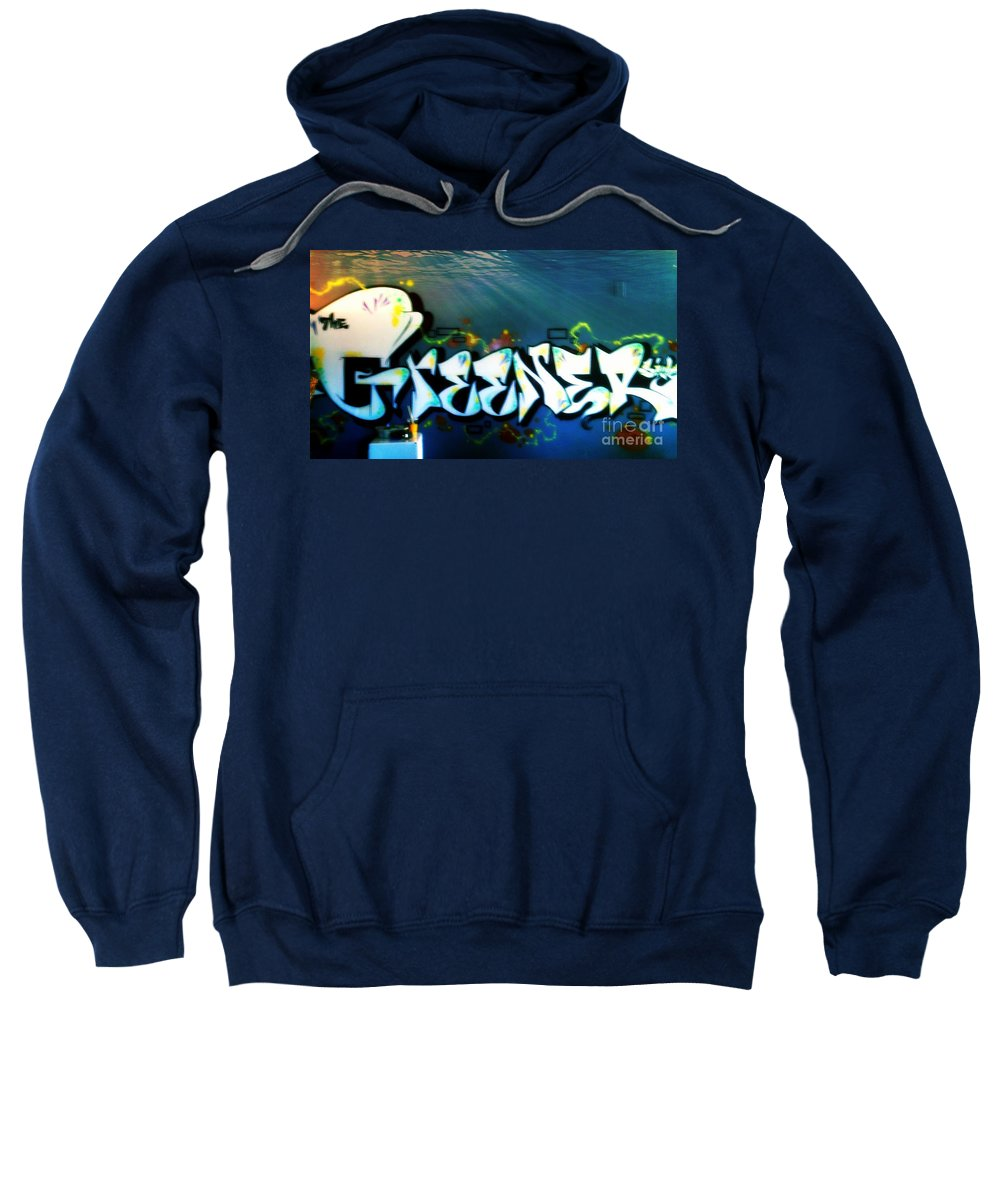 Sweatshirt featuring the photograph The Greener Side Under Water by Kelly Awad