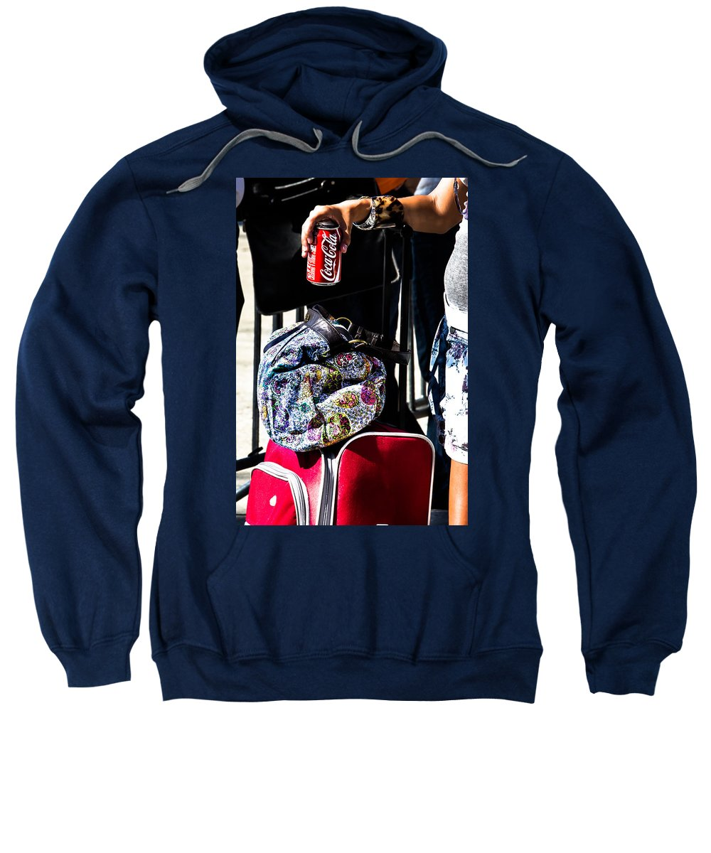 Coca Sweatshirt featuring the photograph The Life Force by Edgar Laureano