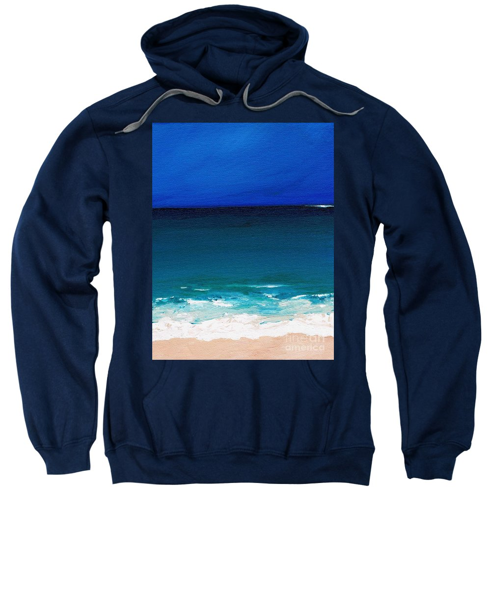 Seashore Sweatshirt featuring the painting The Tide Coming In by Frances Marino