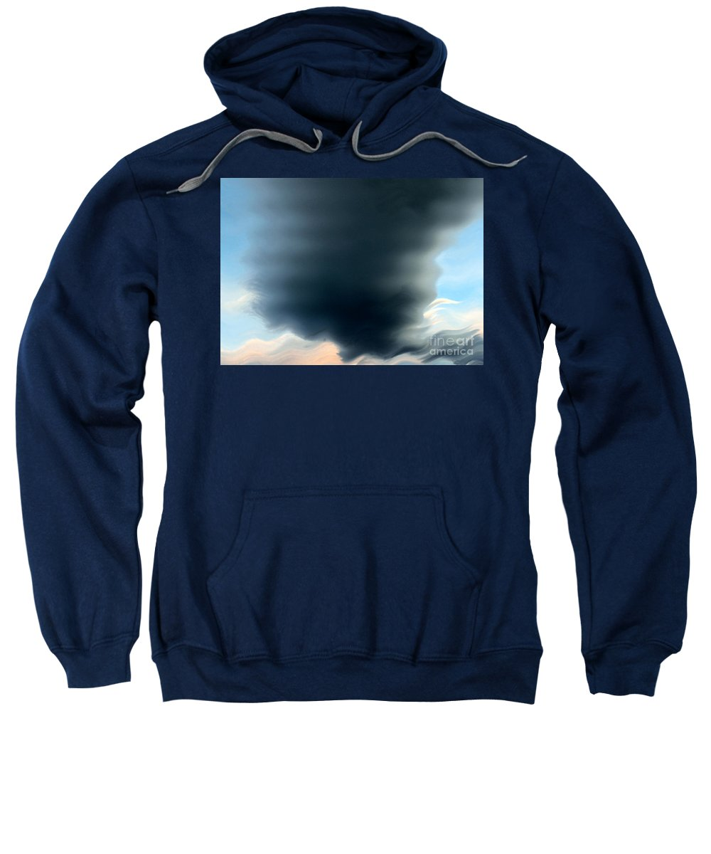 Clouds Sweatshirt featuring the photograph This Too Shall Pass by Krissy Katsimbras