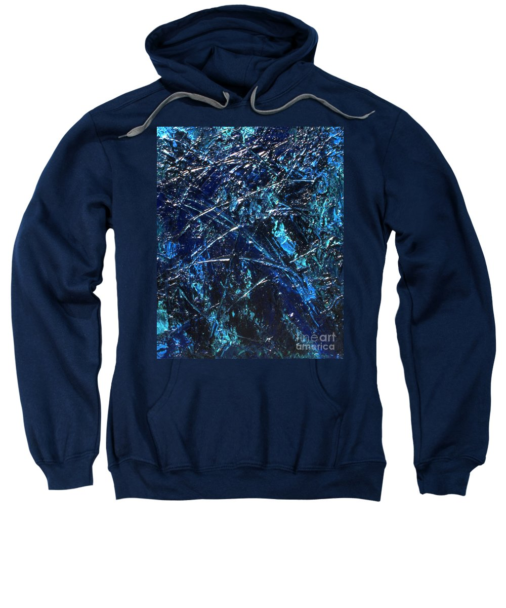 Abstract Sweatshirt featuring the painting Transitions I by Dean Triolo