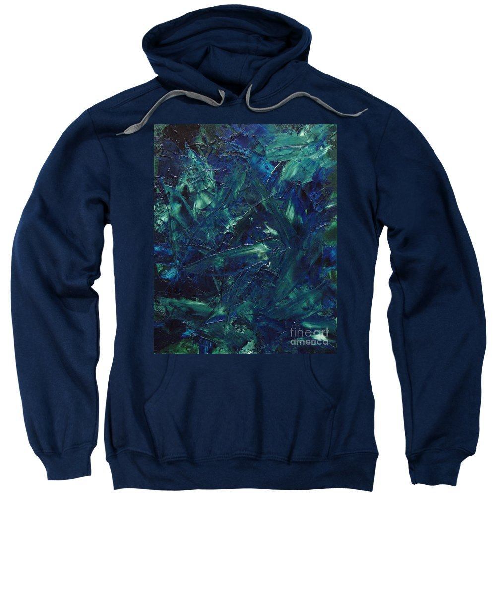 Abstract Sweatshirt featuring the painting Transtions XI by Dean Triolo