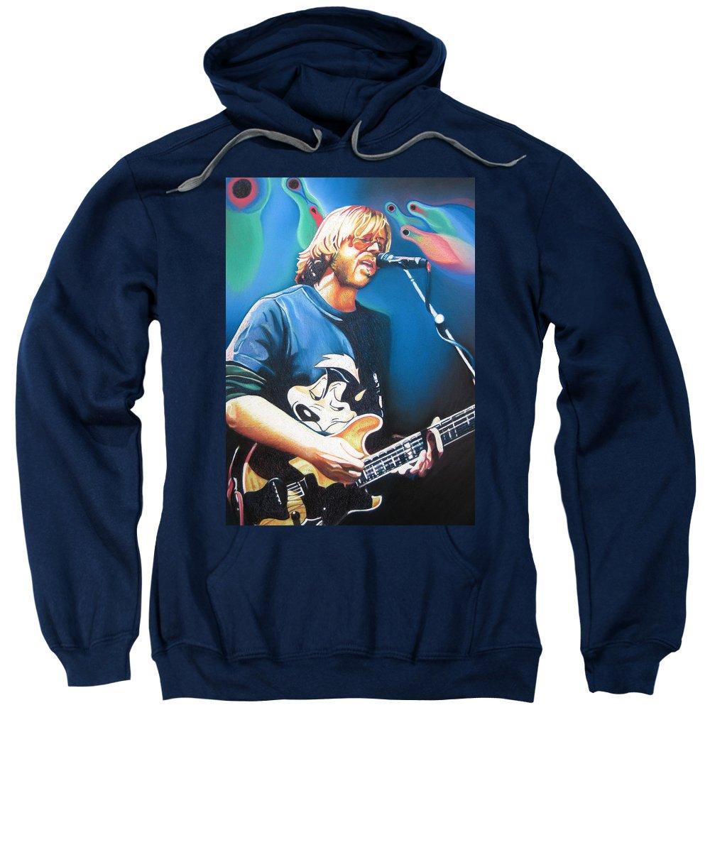 Phish Sweatshirt featuring the drawing Trey Anastasio And Lights by Joshua Morton