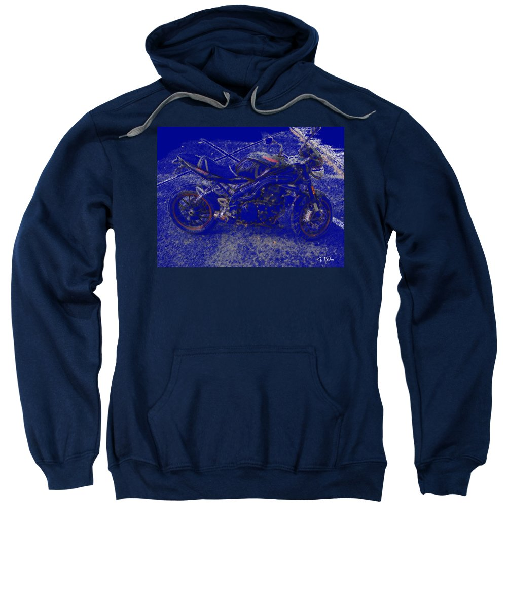 Triumph Sweatshirt featuring the painting Triumph In Blue by George Pedro