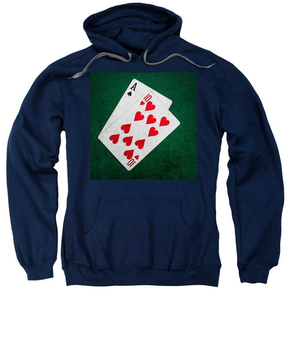 Blackjack Sweatshirt featuring the photograph Twenty One 1 - Square by Alexander Senin