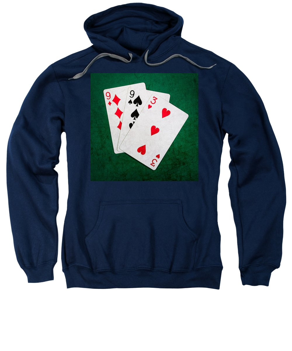 Blackjack Sweatshirt featuring the photograph Twenty One 10 - Square by Alexander Senin