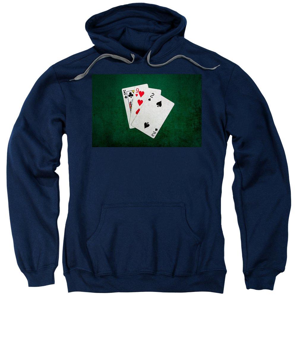 Blackjack Sweatshirt featuring the photograph Twenty One 5 by Alexander Senin