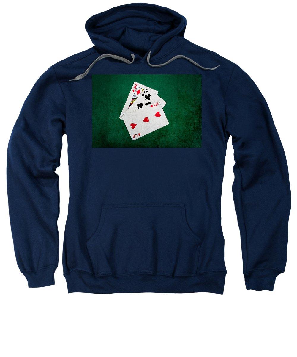 Blackjack Sweatshirt featuring the photograph Twenty One 6 by Alexander Senin
