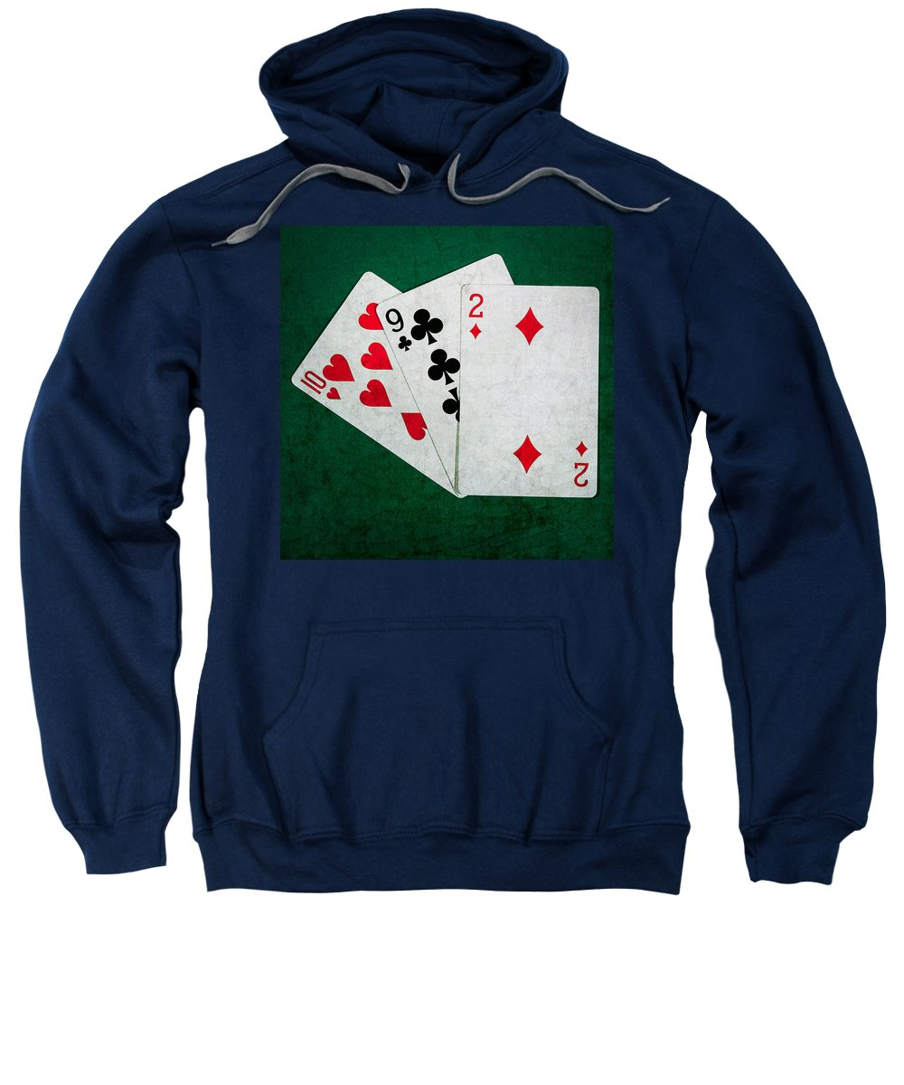 Blackjack Sweatshirt featuring the photograph Twenty One 9 - Square by Alexander Senin