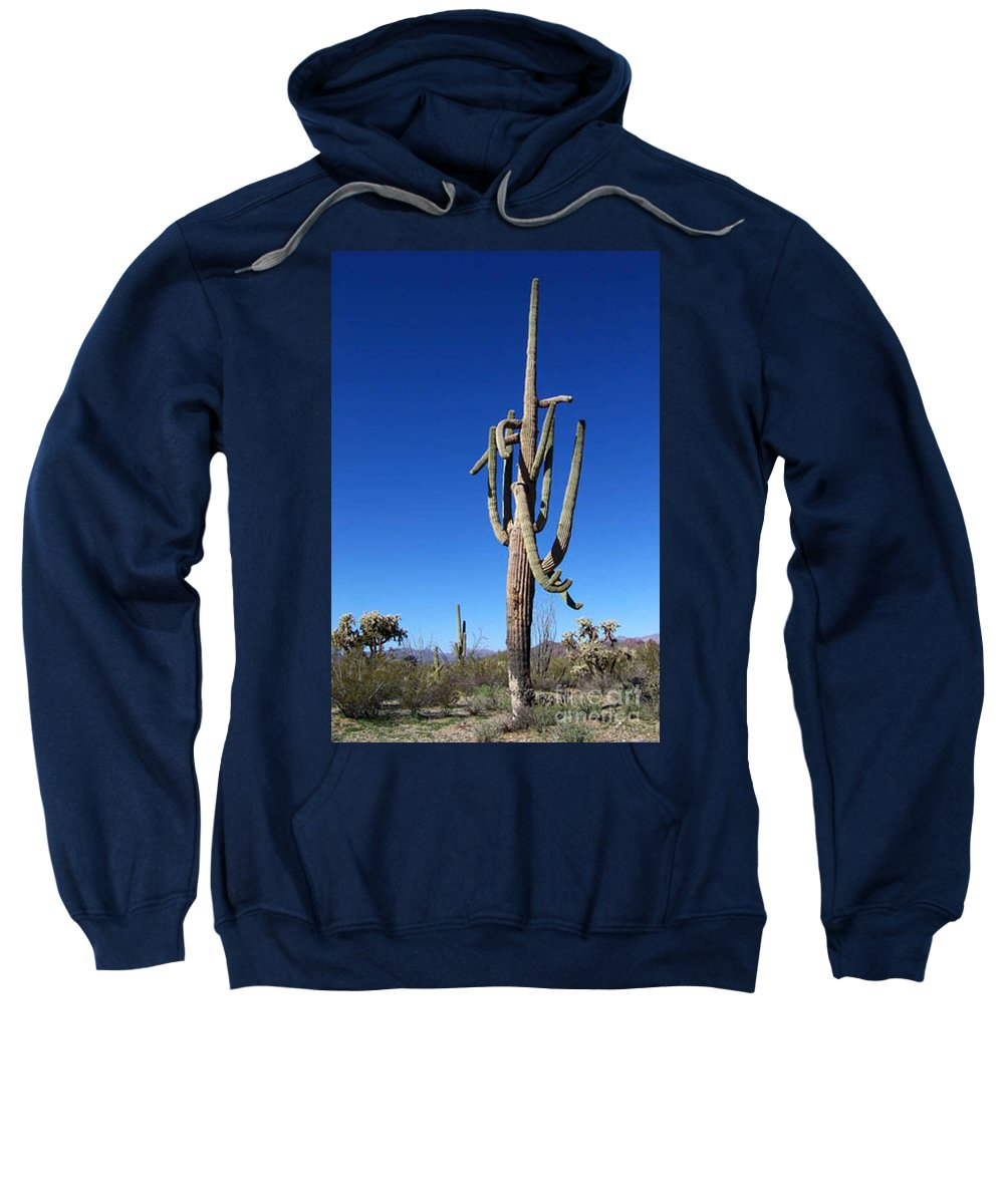Sahuaro Sweatshirt featuring the photograph Twisted Sentinal by Kathy McClure