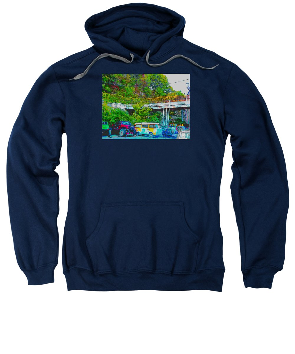 Sweatshirt featuring the photograph Uncle Tom's Toybox by Kelly Awad