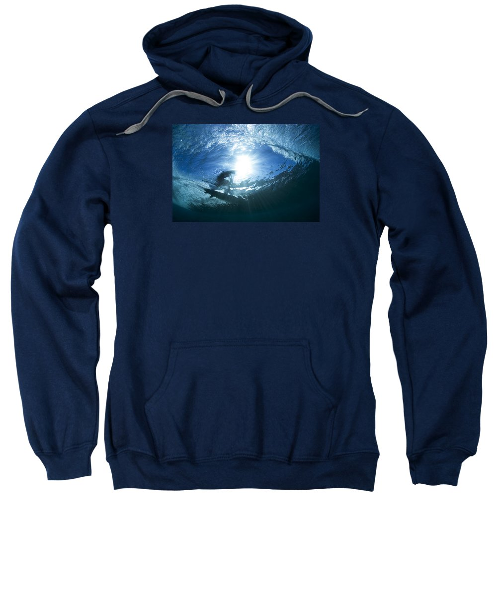 Perfect Surf Sweatshirt featuring the photograph Surfing Into The Eye by Sean Davey