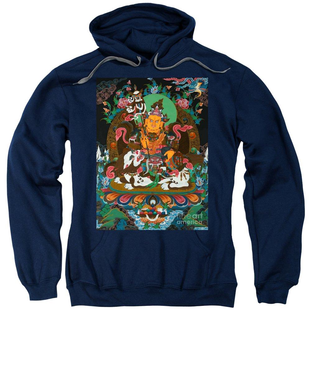 Treasurer Of The Gods Kubera Sweatshirt featuring the photograph Vaishravnna 22 by Jeelan Clark