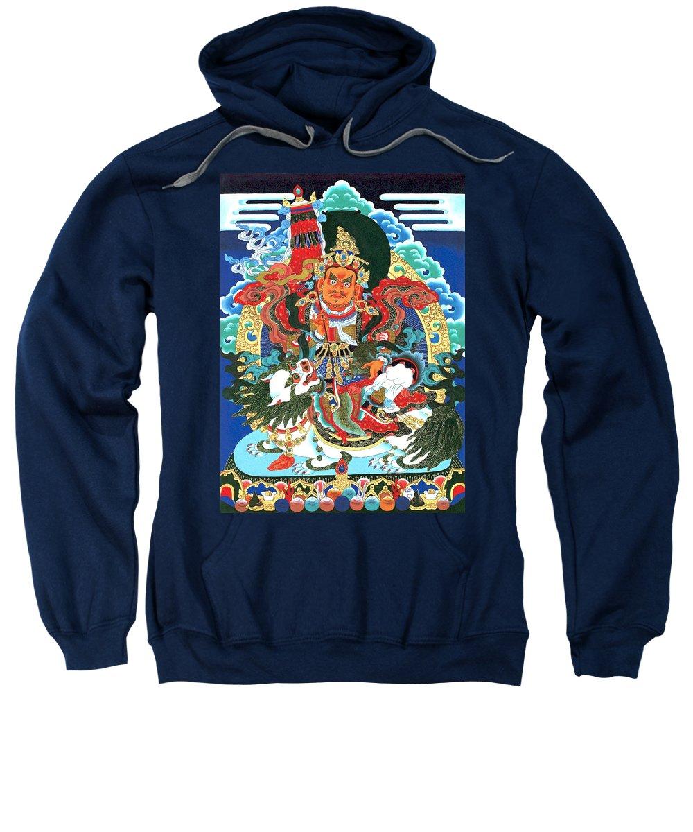 Treasurer Of The Gods Kubera Sweatshirt featuring the photograph Vaishravnna 4 by Jeelan Clark