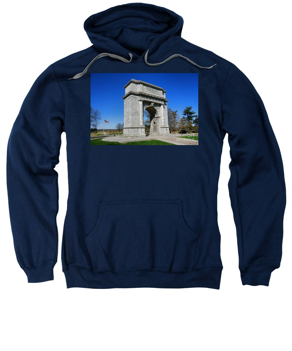 National Sweatshirt featuring the photograph Valley Forge National Memorial Arch by Olivier Le Queinec
