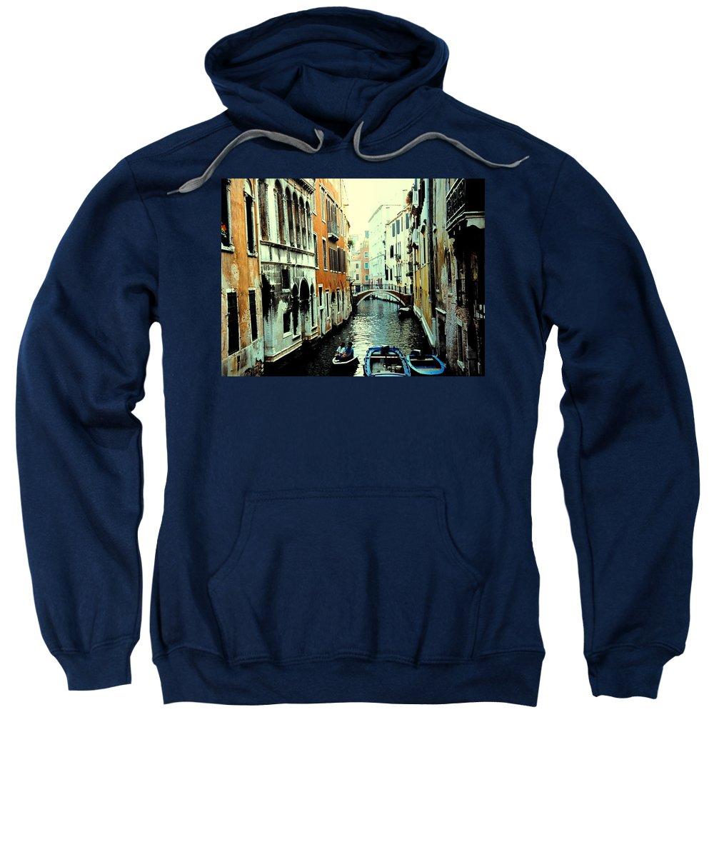 Venice Sweatshirt featuring the photograph Venice Street Scene by Ian MacDonald