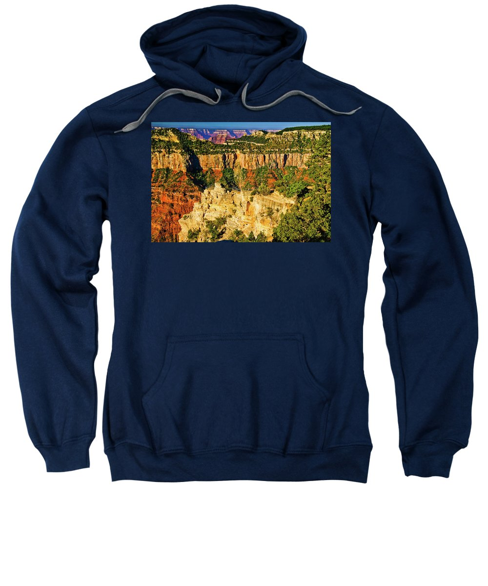 Abyss Sweatshirt featuring the photograph View From Angel Point by Bob and Nadine Johnston
