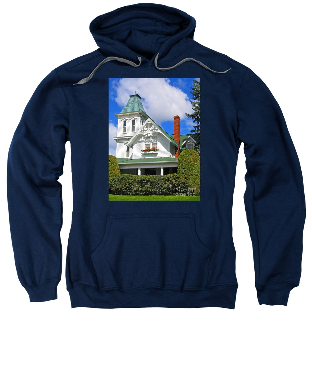 House Sweatshirt featuring the photograph Vintage Victorian by Ann Horn