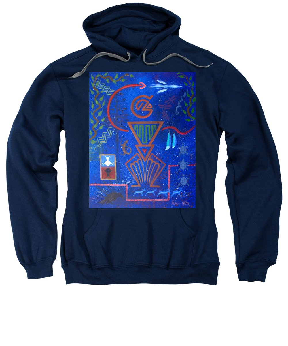 Sweatshirt featuring the painting Vision Quest by Jeff Sartain