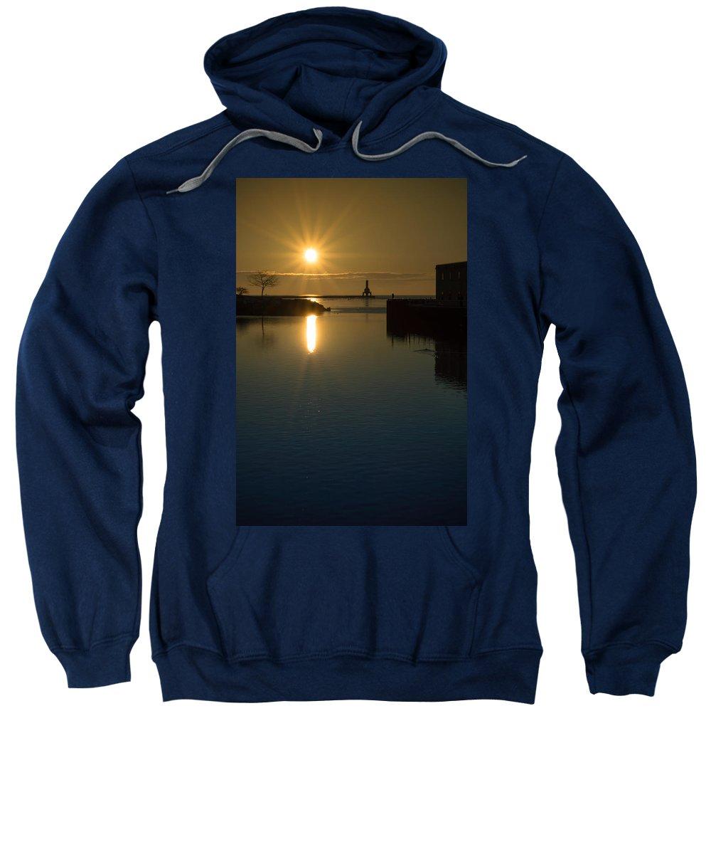 Sunrise Sweatshirt featuring the photograph Warming Sun Vertical by James Meyer