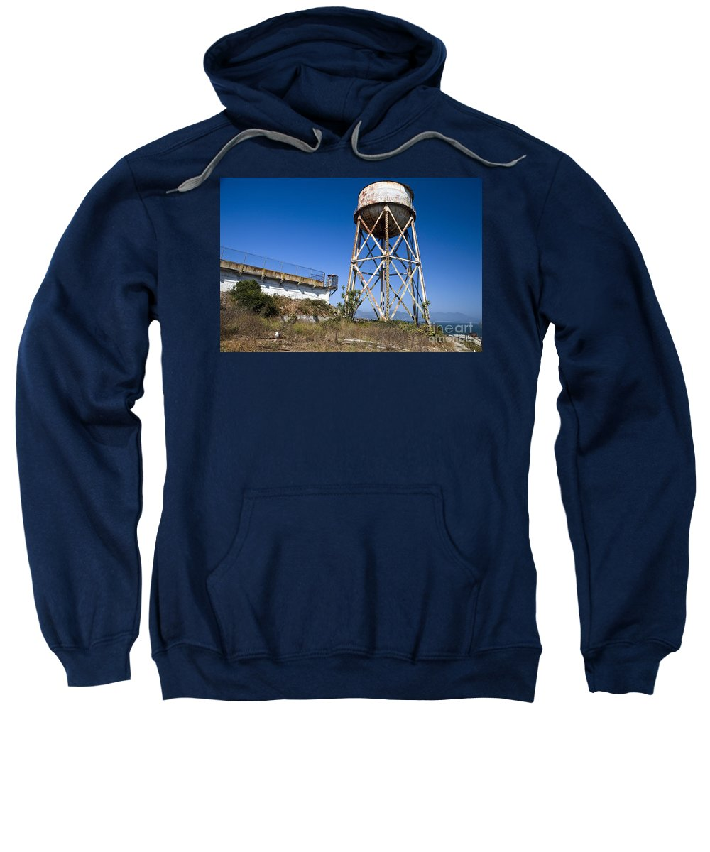 United States Of America Sweatshirt featuring the photograph Water Tower Alcatraz Island by Jason O Watson