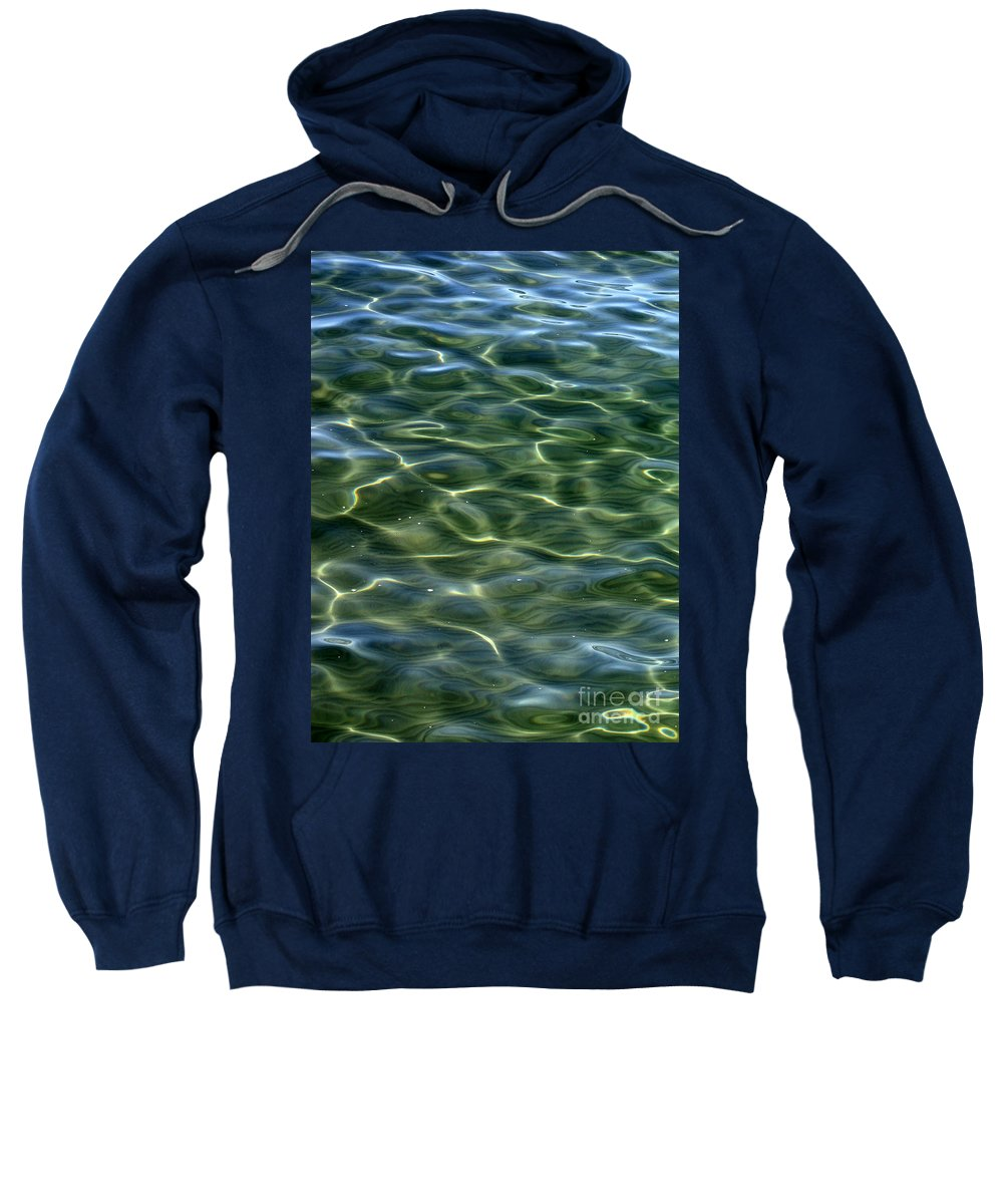 Water Sweatshirt featuring the photograph Waves On Lake Tahoe by Carol Groenen