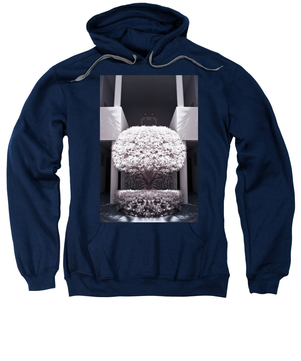 3scape Photos Sweatshirt featuring the photograph Welcome Tree Infrared by Adam Romanowicz