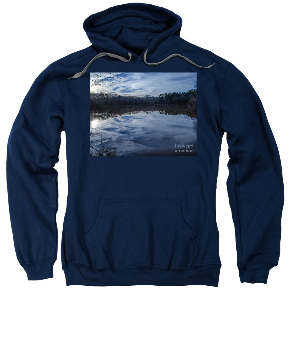 Reflection Sweatshirt featuring the photograph Whipped Cream Christmas Reflection by Donna Brown