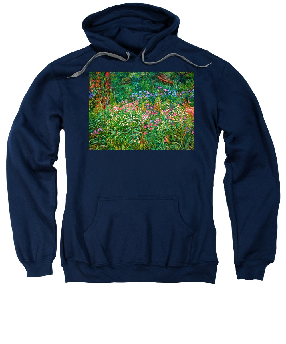 Floral Sweatshirt featuring the painting Wildflowers Near Fancy Gap by Kendall Kessler