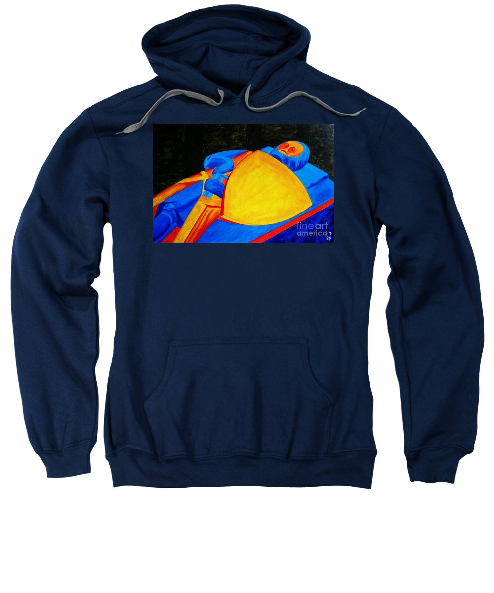 History Sweatshirt featuring the painting William Longspee by Neil Finnemore