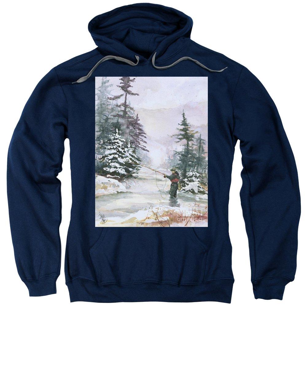 Magic Sweatshirt featuring the painting Winter Magic by Elisabeta Hermann