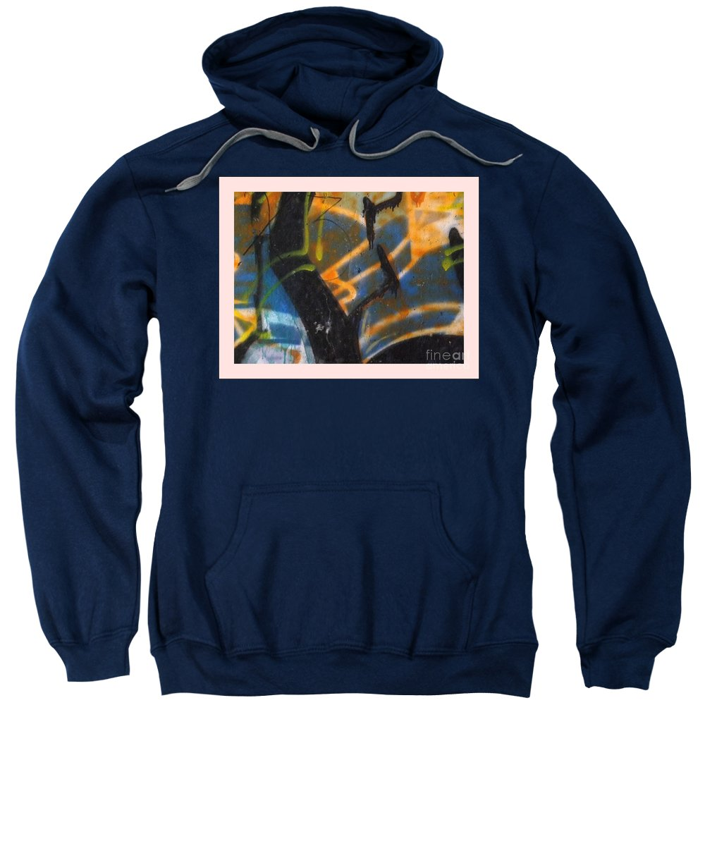Sweatshirt featuring the photograph Writing On The Wall 2 by Sara Raber