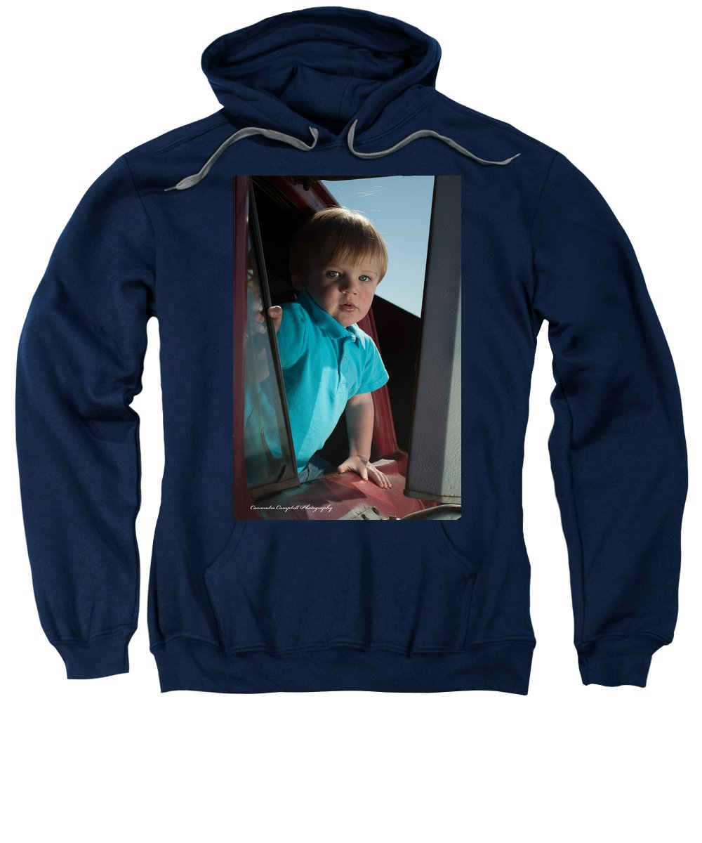 Sweatshirt featuring the photograph Wyatt Portrait 3 by Photos By Cassandra