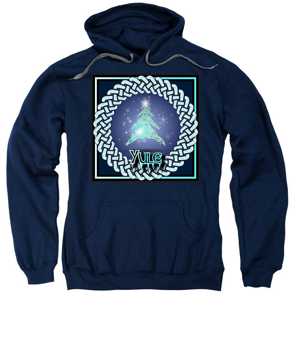 Yule Sweatshirt featuring the digital art Yule Festival by Ireland Calling