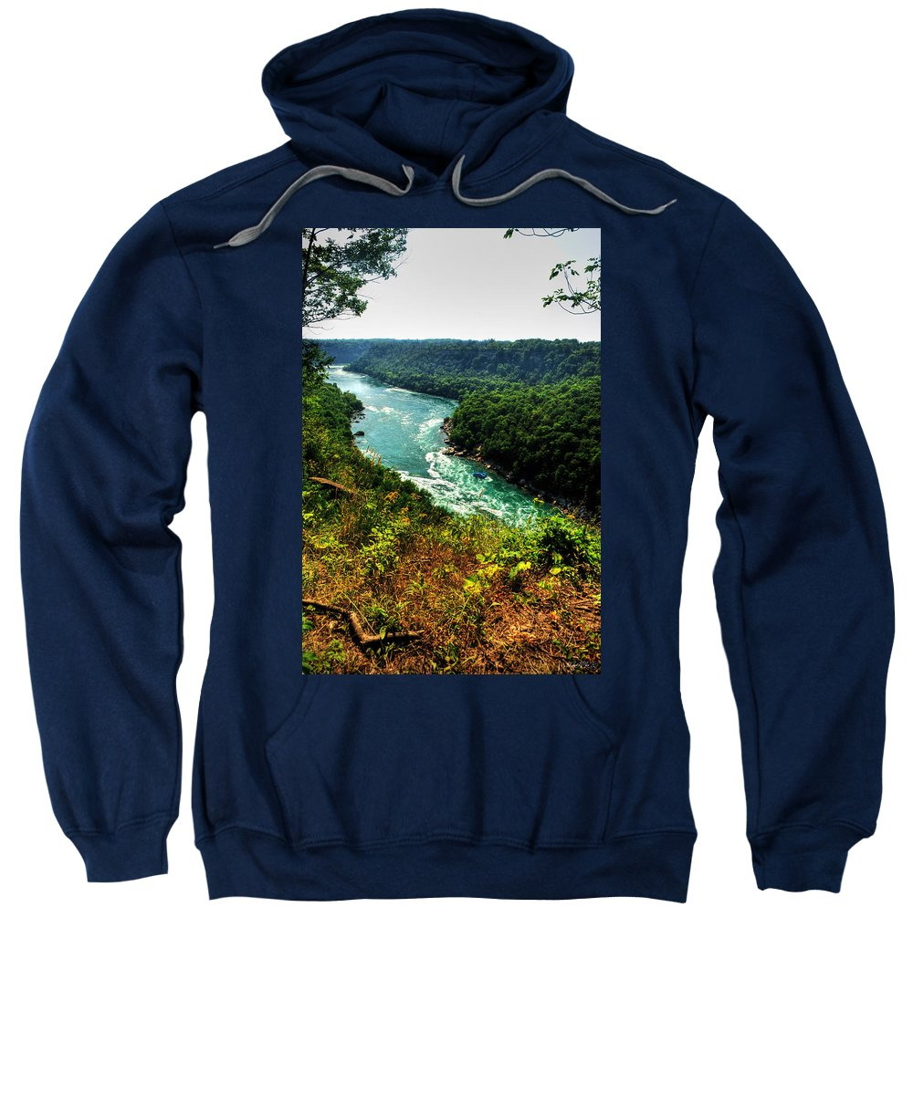 Sweatshirt featuring the photograph 004 Niagara Gorge Trail Series by Michael Frank Jr