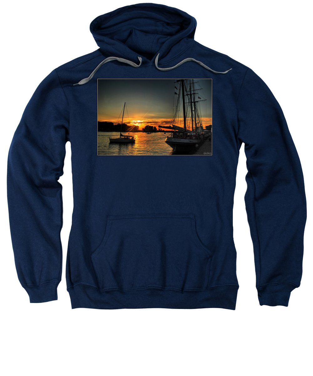 Sweatshirt featuring the photograph 011 Empire Sandy Series by Michael Frank Jr